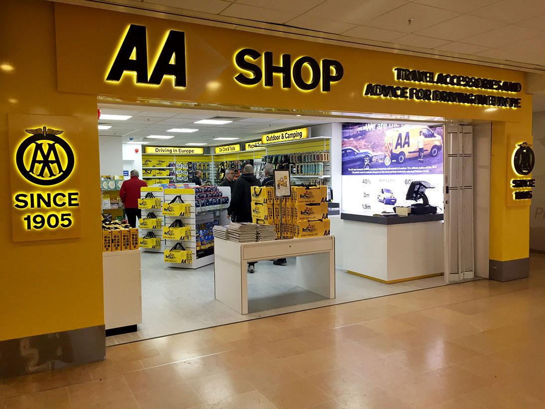The AA shop - Shops in Folkestone - Eurotunnel Le Shuttle